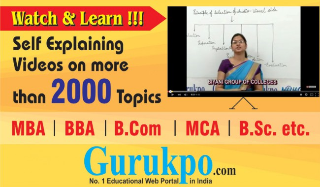 Free Study Notes for MBA MCA BBA BCA BA BSc BCOM MCOM MSc